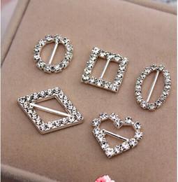New Shiny Rhinestone Buckle Invitation Ribbon Slider Bows Buckle Wedding Supply DIY Jewelry Accessories(Many Shaped and Size)