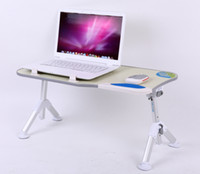 Wholesale 2014 New coolng lap desk with WRIST MOUSE PAD Foldable laptopdesk Tilt adjustable lap desk Hospital table Bed table Lunch table Laptop stand