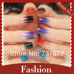 Wholesale sheets Colors D Nail Stickers Gradient Ramp Nail Art Stickers For Nail Decoration