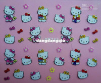 Wholesale New Arrival Mixed Designs HELLO KITTY D Nail Art Sticker Patch Set Tip cat Decal Decoration