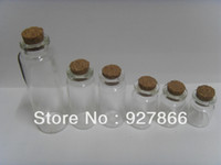 Glass Yes MQ Wholesale lot 100pcs 10ml Clear Glass vial With Corks,Empty Glass bottle,Art Crafts Storage,great for crafts & decorations