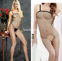 Woman Open Fork And Exposed Breast Gauze Hot Women's underwear nightwear sexy lingerie one piece set fishnet stocking bodysuits jumpsuit Bodystocking Open crotch leotard