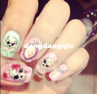 Wholesale BOP076 Diy nail art stickers Halloween D water transfer decal watermark printing applique decal hot selling hot film