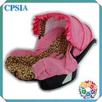 Wholesale 09 Beautiful Pink and Leopard Baby Car Seats Covers Fabric Cute Leopard Seat Covers