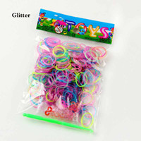 4 colors Loom Bands Glitter Onion Mix Color Multi Color Wris...