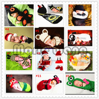 Boy Baby hat Crochet Hats Free Shipping 2014 Fashion Boy Girl Baby Beanie Costume Kids Photography Hats Shorts Sets Knitted Photo Props Crochet 0-12 Months