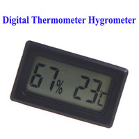 Wholesale Mini Digital LCD Thermometer Hygrometer Humidity Temperature Meter thermo hygrometer Indoor