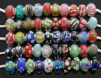 Wholesale Hot Sale Assorted Models Murano glass loose Beads charms DIY Charm bracelet Mix Colors