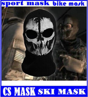 call of duty - Factory Price Elias Ghost Call of Duty Skull Balaclava Hood Full Warm Neck Face Cycling Ski Protector CS mask top sale