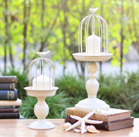 Wholesale European Classic design metal iron birdcage candle holder home decoration
