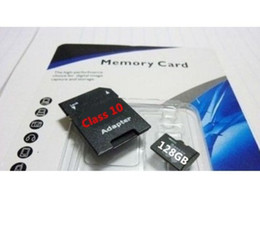 Wholesale 128GB GB Class Micro SD SDHC TF Memory Card G SD Card for Smart Phones Tablets Netbooks DHL