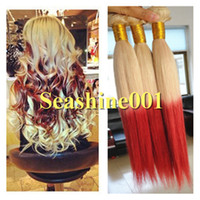 100g Malaysian Hair Ombre Color 2014 Free Shipping 100% Virgin MalaysianHuman Hair Weft Weaves straight #613 Red 2 tone color ombre hair weft 3pcs lot 300g in stock Hot