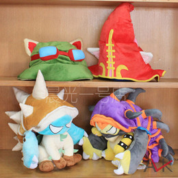 Wholesale Rammus Stuffed Animals Plush Doll Toys League of Legends Hat Cartoon Anime Movies Video Game Christmas Wedding Gift Toy A227