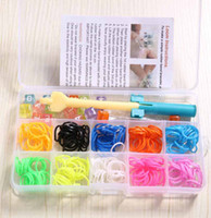 DIY Loom Bands Loom Kit Rubber Bands Wrist Bracelet 200 band...