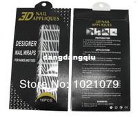 Wholesale sheets sheet Styles D Rhinestone Nail Sticker Nail Appliques Patch Nail Wraps nail decal