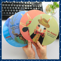 Wholesale FORREST SHOP High Quality Cute Rabbit Cartoon Soft Coaster Computer Mouse Mat pieces FRC