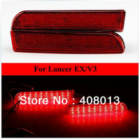 12V Lancer EX/ V3 KEEN Auto Red Lens LED Rear Bumper Reflectors Light Lamp Mitsubishi Lancer EX, V3 Rear Brake Tail Parking Warning Light Accessories