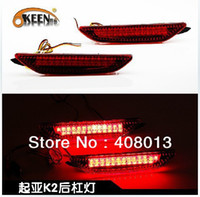 12V kia k2 KEEN Free Shipping Auto KIA Red Lens LED Rear Bumper Reflectors Light Lamp Add-on Rear Brake Tail Parking Warning Light For K2