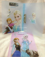 Wholesale Frozen Children School Study Things Snow Queen A4 Folder Plastic Portfolio Elsa Anna Cartoon Documents Folders Sationary Paper Files G0662