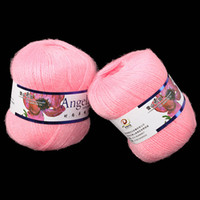 Yes JUNE Pink Pink Luxury Angola Mohair Cashmere Knitting Wool Yarn Skein Hot Selling