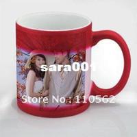 Bone China photo mug - Color changing photo mug Personalized coffee mug