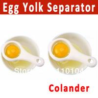 Wholesale 2pcs egg separator colander egg yolk divider kitchen cooking tools gadgets