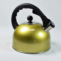 Wholesale thermos stainless steel L whistling boiling hot water kettle teapot tea kettle used on gas stove and induction