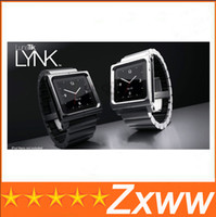Yes aluminum For iPod Nano Free Shipping Metal aluminum material LunaTik Lynk Watch Kits Band luna tik Wrist Strap Case For iPod Nano 6 HZ 421