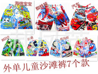 Wholesale Children shorts Baby boys Beachshorts kids cartoon Spiderman trunk hose baby summer board shorts Boys fashion short pants