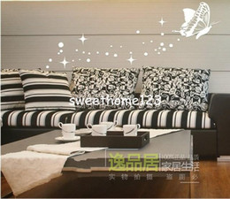 New Creative Wall Decal Fashion Art Butterfly Star Bubble Wall Sticker Acrylic Crystal Decoration DIY Fun New Peculiar 3D Wall Poster