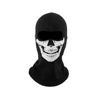 Wholesale 2014 New High Quality Replica Ghost Ski Full Face Mask Biker Totenkopf Skull Face Motorrad Mask Windmask outdoor cycling hood