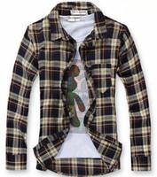Men 100% Linen Shirts Luxury Casual Men Plaid Shirt Long Sleeve Check Patch Shirt Men Clothes Camisas dudalina shirt 20