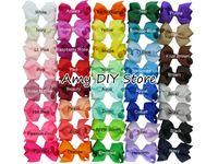 Fille accessoires pour cheveux clips Avis-85pcs / lot 3.3-3.5 '' Ribbon Bows with Clip, clips de couleur unisexe, arc de cheveux pour bébés, accessoire de cheveux accessoires accessoires pour cheveux HJ001 + 4.5cm