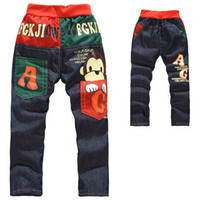 Wholesale 2014 New Retail Baby Kids Toddler Boys Legging Pants Trousers Boys Jeans Animal Monkey Children Pants Age Year JB YH10