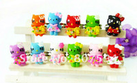 Wholesale 100Ps mixed colors Acrylic finger Ring resizable rings lovely hello kitty rings jewellery jewelry