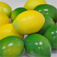 artificial lemon - Novelty Artificial Fake Lemon High Simulation of Fruits Crafts Home Decoration Early Childhood Photography Props