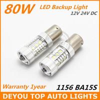 Wholesale New arrive x Xenon White SEOUL W BA15S LED Backup Reverse Turn Light Bulb P21W S25