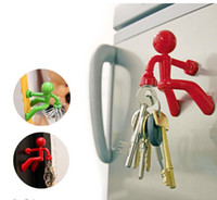ECO Friendly climbing wall - Novelty Wall Climbing Man Magnetic Key Holder Key Pete Boy Keychain Fridge Magnets