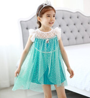 New girls dress Movie Cosplay Princess Dress from Frozen for...