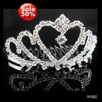 Tiaras&Crowns Rhinestone/Crystal  In Stock ! Beast Selling 2014 Cheap Rhinestone Crown Band Alloy Princess Crystal Prom Wedding Bridal Jewelry Girl' Tiaras Hair Accessories