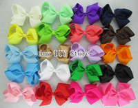 accessories for bows - 2014 NEW hair bows WITH clips girl accessories Grosgrain Ribbon Bows WITH clip Headwear Hair bows for Baby Girls HJ011 cm