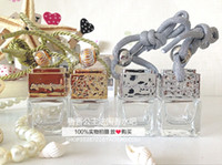 Wholesale Perfume bottle glass perfume bottle perfume bottle square ML new car pendant JG03