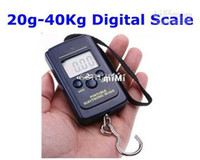 TOOL-S-A01L 40Kg/88Lb/1410oz LCD Wholesale - 20g-40Kg Digital Hanging Luggage Fishing Weight Scale