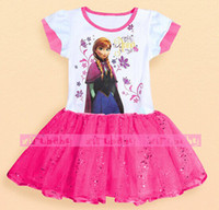 New 5 pcs lot girls dress Princess Dress from Frozen for Chi...