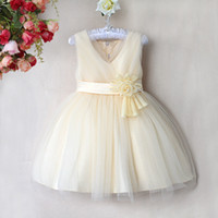 Kids Party Dresses Flower Girl Dress with Beautiful Flower H...