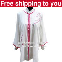 Wholesale Chinese Tai chi clothing Kungfu performance taiji sword suit shawl plum blossom embroidery woman man little boy girl children