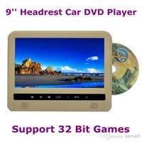 DVD/VCD Player TV Headrest Wholesale - 9'' Automobile Headrest Car DVD Player Super Slim with MP5 IR 32 Bit Game FM USB Multi Function Free Shipping