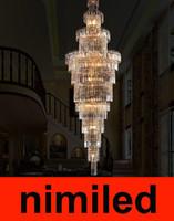 nimi337 Роскошный двухместный Лестница лампа Люстра Вилла Гостиная Люстры Подвесные отеля Инженерные Лампы Droplight Свет