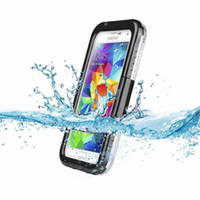 Wholesale 2014 new Waterproof Case Water Proof Case Cover Shockproof for samsung galaxy s5 i9600 with Retail Pack