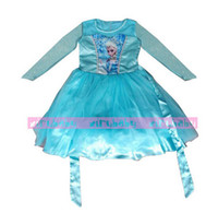 Baby Girls Dress Frozen Dress Princess New Cartoon Print Gir...